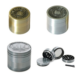 Wholesale Leaf Grinder - 4 Parts Bulldog Grinders Metal CNC Grinder 40mm For Tobacco Smoking Maple Leaf Shape Dry Herb Grinder Zinc Alloy Metal Crushers