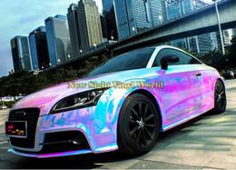 2019 macchine avvolte in cromo Premium Rainbow Rainbow Chrome Vinyl Wrapping Film Arcobaleno deriva Vinyl Roll Bubble gratuito per auto Decal macchine avvolte in cromo economici