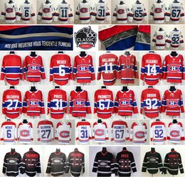 Wholesale Montreal Price - 2018 New Style Montreal Canadiens 6 Shea Weber 11 Brendan Gallagher 27 Galchenyuk 31 Carey Price 67 Max Pacioretty 92 Jonathan Drouin Jersey