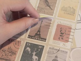 2019 etiqueta de etiquetas de papel 12 Folhas / lote Vintage Selo Adesivos Diário Planejador Diário Nota Papel Diário Scrapbooking Álbuns Foto Tag desconto etiqueta de etiquetas de papel