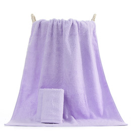 baby bath towel square Coupons - High-end long-staple cotton purple bath towel sets, adult baby household hotel thickening soft cotton Water absorption towel