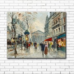 Wholesale Cartoon Scenery - impression street light scenery canvas printings oil paintings printed on canvas modern wall art decoration pictures no frame