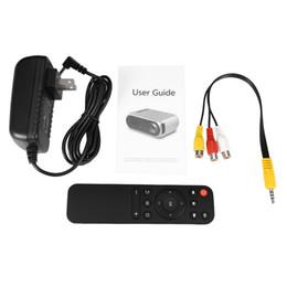 Proyectores de alta luminosidad online-Alta calidad YG320 HD USB Mini LED Proyector 1080P Home Theater Reproductor multimedia Soporte HDMI TV Medios Películas Jugadores artículo de moda