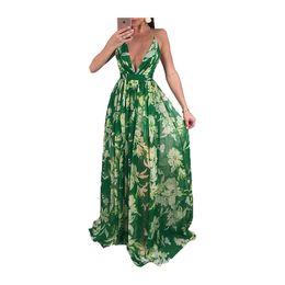 0aab5ca4a06 Hot popular fit and flare women dress sleeveless v neck summer sexy long  maxi dress elegant vestidos