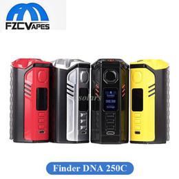 Wholesale E Cigarette Boxes - Authentic Think Vape Finder 250W DNA 250C Box Mod Evolve DNA250C Chip Triple 18650 E Cigarette Vape Mod 100% Original Thinkvape
