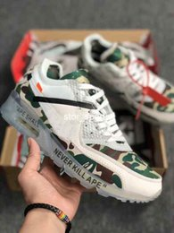 competitive price 40d32 2a2dc Classic off white nike air max 90 GS dix chaussures de course AA7293-101 90  Desert Ore 90s Camo Womens Mens AA7293-100 Sneakers taille 5.5-11 de haute  ...
