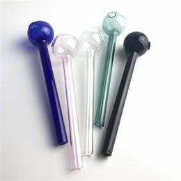 xxl röhren Rabatt 5,5 Zoll XXL Glas Öl Brenner Rohr mit 30mm große Schüssel klar rosa blau grün schwarz Günstige bunte dicke Pyrex Rohr Rohre