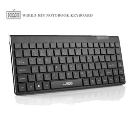 Wholesale office works computers - Original V3000 Mini USB Wired Mute Silence Laptop Computer keyboard 78Keys Portable Durable Office Work PC Keyboard
