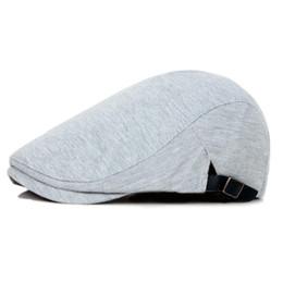 Cappelli regolabili di autunno della molla Casuali piani degli uomini di  modo delle donne berretti Beret Unisex Caps di colore solido Driver di  Gastby ... e8ed3c8c2262