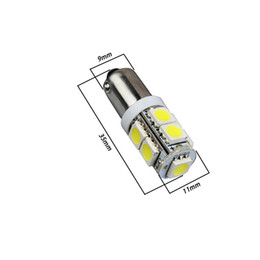 Medidores de carro branco on-line-YSY 10X T11 Ba9s T4w 5050 9Smd Carro Branco Levou Marcador de Lâmpadas de Luz Da Placa de Licença Auto Porta Lâmpada Painel de luz Medidor de luz DC 12 v