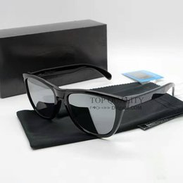 Wholesale square eyeglass fashion frames - 2018 Brand sunglasse New Top Version Sunglasses TR90 Frame Polarized Lens UV400 frogskin Sports Sun Glasses Fashion Trend Eyeglasses Eyewear