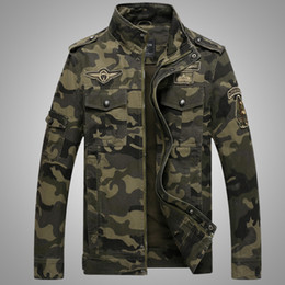 2d1042488b1 Pilot Jackets Men Winter Autumn Bomber Cotton Coat Tactical Army Clothing  Male Casual Flight Jean Jackets 4XL