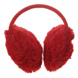 Wholesale Woman Winter Ear Cover - Headwear Red Fluffy Plush Ear Covers Winter Earmuffs for Women