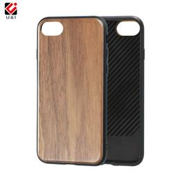 Wholesale Wood Iphone Bumper - Good wood texture luxury feeling phone case for iPhone 6plus 7plus 8plus, silicone tpu bumper for i Phone 6 6s 7 8 plus