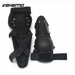 bicycle armor Promo Codes - 4Pcs Set Knee Shin Elbow Pads Armor Support Motorcycle Bicycle Motocross Racing