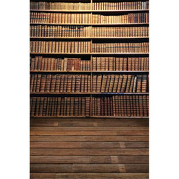 Allenjoy Library Bookshelf Photography Backdrops Back to School Magic Study Room Books Bookcase Background for Children Student Portrait Banner Photo Studio Booth Props 7x5ft