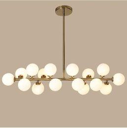 lámparas colgantes de cristal vintage Rebajas Gold / Black Magic Bean LED Luces colgantes para comedor Vintage Loft Industrial Bola de cristal colgante Luz Retro lámpara colgante de cristal
