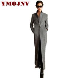 f3dfe8ca921d YMOJNV High Quality Autumn Winter Wool Coat Women 2018 Fashion Skirt Style  Slim Long Female Plaid Woolen Overcoat manteau femme