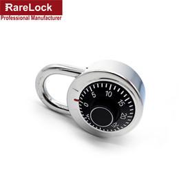 Wholesale Door Password - Wholesale- Rarelock MMS6 Cipher Disk Combination Padlock with 3 Digit Password Lock for School GYM Locker Cabinet or Door DIY Hardware f