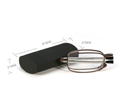 Argentina MINI Diseño Gafas de Lectura Hombres 2018 Mujeres Plegables Gafas Pequeñas Montura de Gafas Metálicas Negras Con Caja Original Suministro