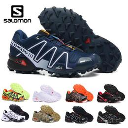 осветите кроссовки Скидка Salomon Mens Speedcross 3 Trail Кроссовки Спорт на открытом воздухе легкие кроссовки Mnes белый черный красный желтый на шнуровке дышащие кроссовки