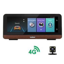 "Wholesale Camera Night Time Vision - 8""Touch 4G ADAS Android 5.1 wifi GPS 1080P Video Recorder Dual Lens Registrar Dash cam ROM 16GB Parking Monitor car dvr camera"