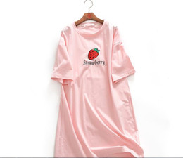 Wholesale Women Cotton Nightgowns - 18 spring and summer women new! Classic nightdress! Cotton simple cute fruit short-sleeved home service nightdress