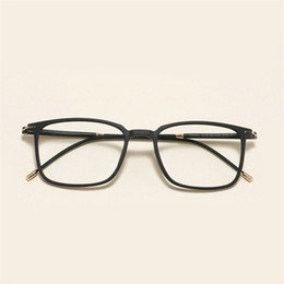 d17d29bc1a MINCL Spectacle Frame Eyeglasses Men Computer Optical Myopia Prescription  Glasses Frame For Male Transparent With box NX