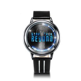 Wholesale Led Watch New Models - Fashion new STAR TREK Models Spock Starfleet Spock LED waterproof touch screen watches Christmas Gift