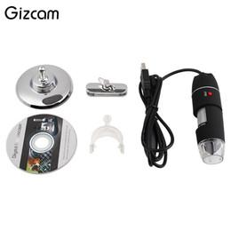 Micro zoom on-line-Gizcam 1000X Zoom 8 LED USB HD 2MP Microscópio Digital Sensor CMOS Câmera de Vídeo Endoscópio Micro Câmeras Lupa