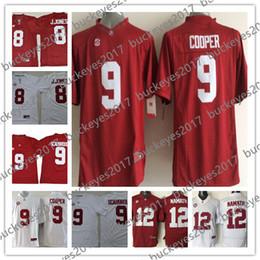 1cbb66812 NCAA Alabama Crimson Tide  9 Bo Scarbrough Leighton Vander Esch Schultz  Navy White 2018 Draft NCAA College Football Jersey