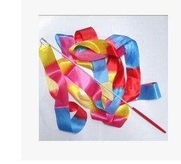 Wholesale dance streamers wholesale - factory direct Hot Sale 4M Graceful Exercise Dance Ribbon Callisthenics Gym Rhythmic Art Gymnastics Ballet Streamer Twirling Rod EH-311
