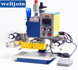 Wholesale Hot Stamp Foil - Pneumatic Printing Machine 130*100MM, Printer Leather, Creasing, Hot Foil Stamping Machine Press Marking 220V 400W