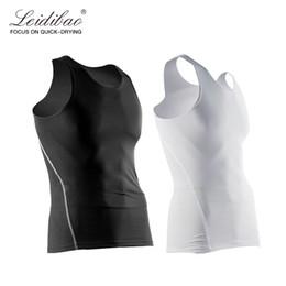 Wholesale tight tank top undershirt - 3 Colors Men quick dry running vest Bodybuilding Vest Tank Top sleeveless Jersey Quick-dry Tights Tops Undershirt