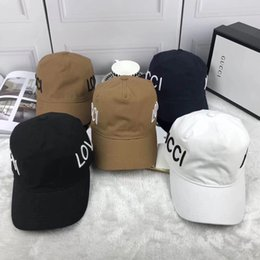 Wholesale Love Letters Box - Top quality brand fashion loved g hats with box Chance the ball caps west dad cap letter Cap coloring hats for men women hats