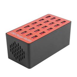 Adaptador de cargador para mesa online-ASIGNADO 100W 20 puertos USB Hub Cargador de pared Adaptador Estación de acoplamiento de carga con detección automática para mesa PAD / teléfono inteligente