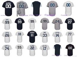 Wholesale mantle man - Customized Yankees Aaron Judge Jersey Gleyber Torres Severino Mantle Gardner Didi Gregorius Gary Sanchez Men Women Kids Baseball Jerseys