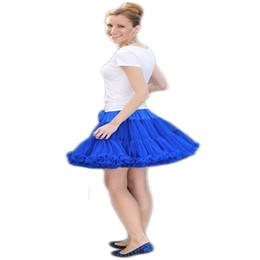 Erwachsener flauschiger rock online-Großhandels-Extra Fluffy Teenager Mädchen Adualt Frauen Pettiskirt Tutu Frauen Tutu Party Dance Erwachsene Rock Leistung Tuch