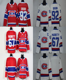 aa46a4b1a79 Cheap 2017 2018 New Brand Ad Men Montreal Canadiens 67 Max Pacioretty 92  Jonathan Drouin Blank Red White Stitched Ice Hockey Jerseys