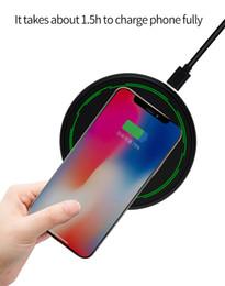 Kostenlos apfel usb-kabel online-2018 NEUES ursprüngliches drahtloses Ladegerät 10W Aluminiumlegierungs-drahtloses schnelles Aufladen für Iphone Samsung mit Art C USB-Kabel im Kleinkasten geben DHL frei