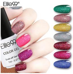 neongel-nagellack Rabatt Elite99 Bling 7ml Neon Nagellack 12 Farben Tränken Sie UV LED Glitter Gel Lack Nail Art Vernis Langlebige Gel Lacke