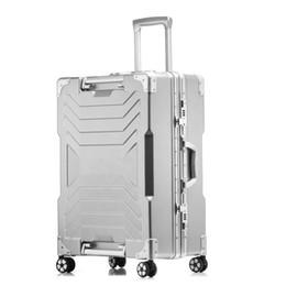 dc3d5c9f6 20''24''26''29 '' Gran capacidad Marco de aluminio Maleta Trolley de viaje  Equipaje TSA Cerradura Koffer mala de viagem Ruedas giratorias