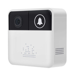 Vista de seguridad online-32GB Mini timbre de la cámara 720P HD Smart Video Timbre WiFi Cámara de seguridad para el hogar Timbre de la puerta móvil Timbre en tiempo real Llamada de video bidireccional Vista