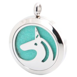 Wholesale Stainless Steel Horse Jewelry - AMYA Silver Jewelry Horse Dog Butterfly Aromatherapy Essential Oils Stainless Steel pendant Perfume Diffuser Locket Necklace
