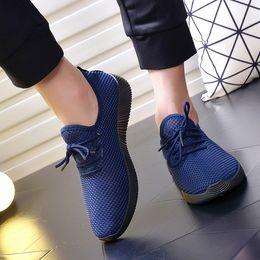 Wholesale Factory Cloths - Factory wholesale 2018 spring and summer new men's single shoes breathable comfortable net cloth men tennis shoes casual men shoes