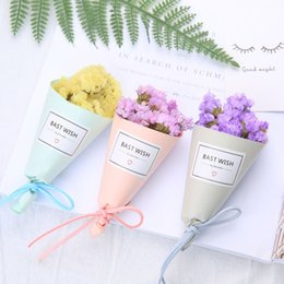 Wholesale Dried Flowers Bouquet - Colorful Decorative Flowers Natural Mini Dried Flowers Hand Made Photography Props Bouquet For Valentines Day Gift 3mr B