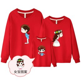 6c2e2b2635 1 piece Sweatshirt for Whole Family Wedding Top Warm Cotton White  Sweatshirt Couple Female Male Kids Matching Family Clothing