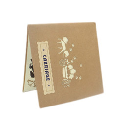 handmade paper greeting cards UK - 2017 3D Paper Laser Cut Greeting Cards Creative Handmade Wedding lnvitations Love Carriage Postcards Wishes Gifts