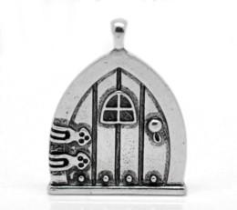 boîte à souhaits en argent Promotion Doreen Box Lovely 10PCs Antique Silver Fairy Wish Pendentifs de porte de charme 35x27mm (1 3/8