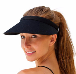 Fashion Cotton Empty Top Sun Visor Hat Summer Clip-On Cap Wide Brim Sun  Protection Hats For Men And Women 070a401e0109